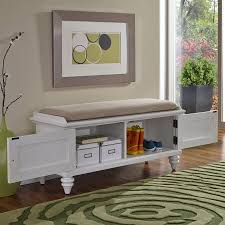 storage bench for living room: home styles bermuda white indoor storage bench