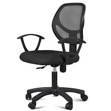 Adjustable <b>Swivel</b> Mesh <b>Office</b> Chair Ergonomic Armrests Casters ...