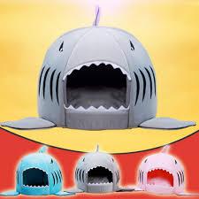 Cute <b>Shark Cat</b> House Bedding Basket Cute <b>Pet Products</b> Sleeping ...