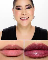 <b>MAC Deep Set</b> Lipglass Review & Swatches | Super lustrous lipstick ...