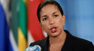 "U.N. Ambassador Susan Rice on Tuesday demanded the United Nations fire a human rights advocate who blamed the American ""global domination project"" for ... - 121128_susan_rice_ap_605"