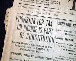「1913 Amendment XVI」の画像検索結果