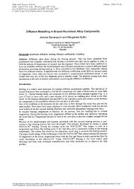 Diffusion <b>Modelling</b> in Brazed <b>Aluminium Alloy</b> Components