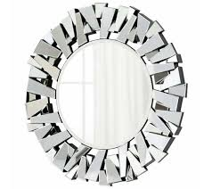 mirror wall decor circle panel: dimensional mirror panel framed round frame the stunning mirror shines brightly with a mirrored facade contemporary and chic this circle wall hanging