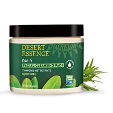 Desert Essence Natural Tea Tree Oil <b>Facial Cleansing Pads</b> - 50 ...
