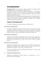 unemployment in unemployment