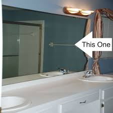 how to frame an existing bathroom mirror