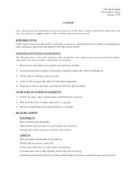 cashier resume template  seangarrette cocashier