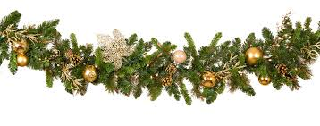 Decorative Garland - <b>Royal</b> Gold <b>Battery</b> Operated <b>LED Christmas</b> ...