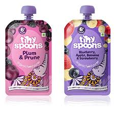 Tiny Spoons <b>Organic Baby Food</b> Puree with Blueberry, Apple ...