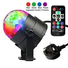 Disco <b>Lights</b>, <b>Disco Ball Lights</b> Upgraded 4 Colours RGBP <b>Party</b> ...