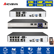 <b>AHCVBIVN</b> PoE NVR Recorder System <b>8CH</b> 4CH Support 4MP ...
