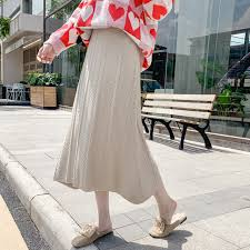<b>Qiukichonson</b> Cute Autumn Winter Long Skirt Women Korean ...