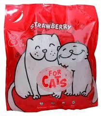 Впитывающий <b>наполнитель For Cats</b> с ароматом клубники 8 л ...