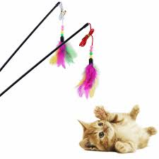SmallBells Funny Cat Stick <b>Feather</b> Toys For Cats Supplies High ...