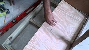 How To Replace A Kitchen Floor Kitchen Sink Cabinet Bottom Wood Floor Replacement With Tile Floor
