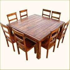dining room tables that seat 8 rustic  pc square dining room table amp  person seat chairs set furnit