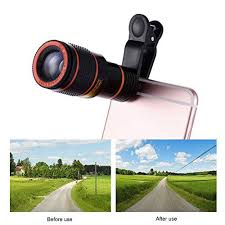 <b>12X Telephoto Lens</b> Optical Zoom Telescope Universal Manual ...