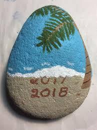 Happy <b>New Year's Rock</b> | Rock painting art, Rock crafts, Rock ...