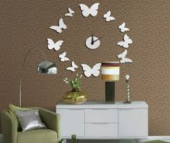 creative peacock wall clocks home decor  decoration creative interior design with butterfly wall clock for min