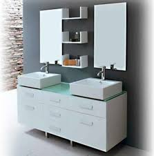 55 inch double sink bathroom vanity: wellington  inch double sink bathroom vanity set with vessel sinks