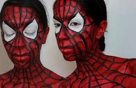 makeup spider man face paint tutorial