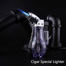 Four Flames <b>Torch Turbo Lighter Gas</b> Lighter Blue Flame Electronic ...