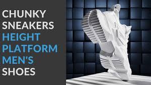 <b>Men</b> Casual Shoes Review | <b>Chunky</b> Sneakers Height <b>Platform Men</b> ...