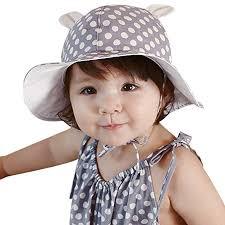Rrimin <b>Sweet Baby</b> Sunhat Outdoor Polka Dots Beach Ear Hats ...
