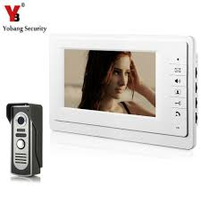 YobangSecurity Video Door Intercoms <b>7 Inch Wired Video</b> Doorbell ...