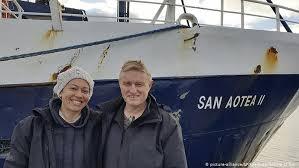 Stranded New Zealand honeymooners hitch lift from Falkland ...
