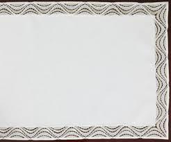 "31,<b>5</b>"" Lace Jacquard TABLE RUNNER <b>Tablecloth White</b> round 80 cm"