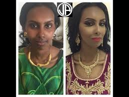contouring makeup for dark skin tutorial makeover transformation asian arabic bridal makeup