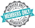 Members only blue grunge retro