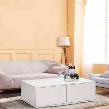 Ballshop Modern Drawers <b>Coffee Table</b> Storage <b>High Gloss</b> Slide ...