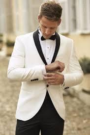 <b>White</b>-<b>Groom</b>-Tuxedos-<b>Men</b>-<b>Wedding</b>-<b>Suits</b>-Black-Shawl-Lapel-and ...
