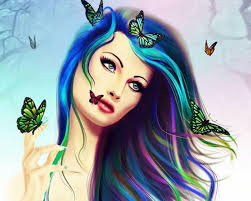 Butterfly girl HQ WALLPAPER - (#108720). Butterfly Girl HQ Wallpaper - butterfly_girl-1574948
