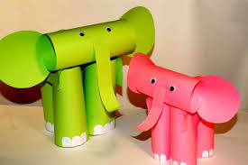paper craft for kids paper elephants easy paper crafts