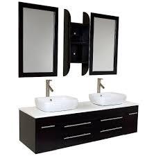 55 inch double sink bathroom vanity: fresca fvnes bellezza modern double vessel sink bathroom vanity in espresso vanity top included
