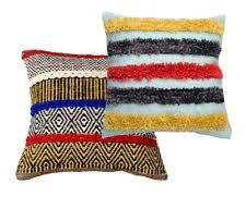 Indian Cotton Striped <b>Cushion Shaggy Cushion</b> Cover Throw Floor ...