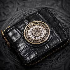 Snow <b>Tibet</b> handmade crocodile leather wallet men wallets luxury ...