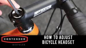 How to adjust a <b>Bicycle Headset</b> - YouTube