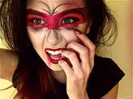 here 39 s my red devil masked vombie makeup mashup happy