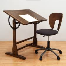 heater table aaad: rustic oak vintage drafting table and chair set walmartcom