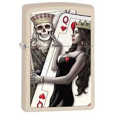 ROZETKA | <b>Зажигалка Zippo</b> 216 Skull King Queen Beauty ...