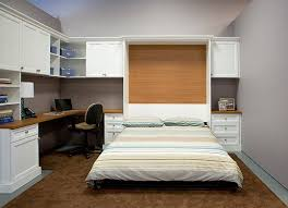combination home office guest room with pull down wall bed bed desk dresser combo home