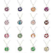 <b>2019 New Style</b> Aroma Diffuser Zircon Necklace Stainless steel ...