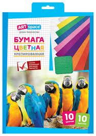 <b>Цветная бумага</b> крепированная <b>ArtSpace</b>, <b>A4</b>, 10 л... — купить по ...