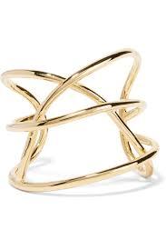 <b>Gold Abstract</b> Line gold-plated cuff | Jennifer Fisher | NET-A-PORTER