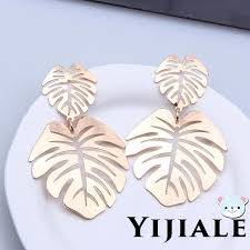 YJ  Women <b>Creative Leaf Shape</b> Earrings <b>Fashion</b> Earrings ...